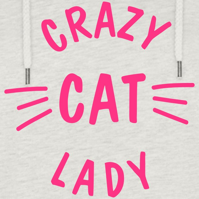 Crazy Cat Lady meow - Frauen Cropped Hoodie