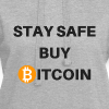 stay safe buy bitcoin - Hoodie-Kleid