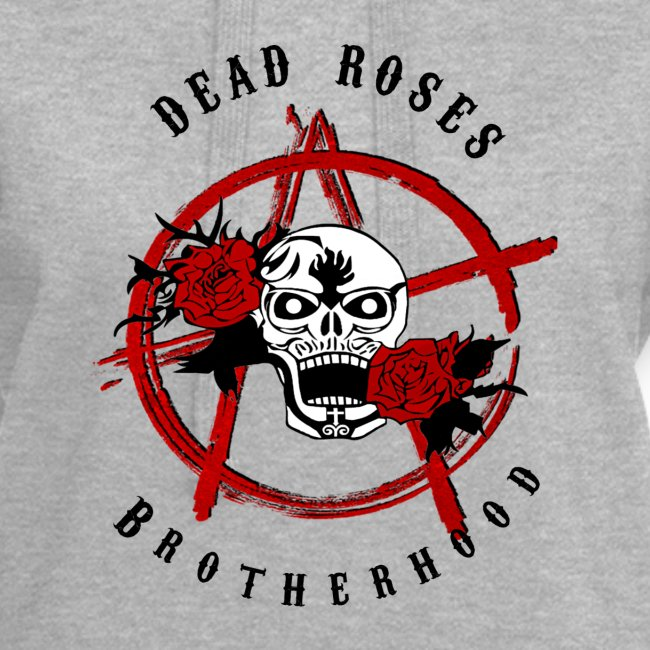 Dead Roses Anarchy Skull Black