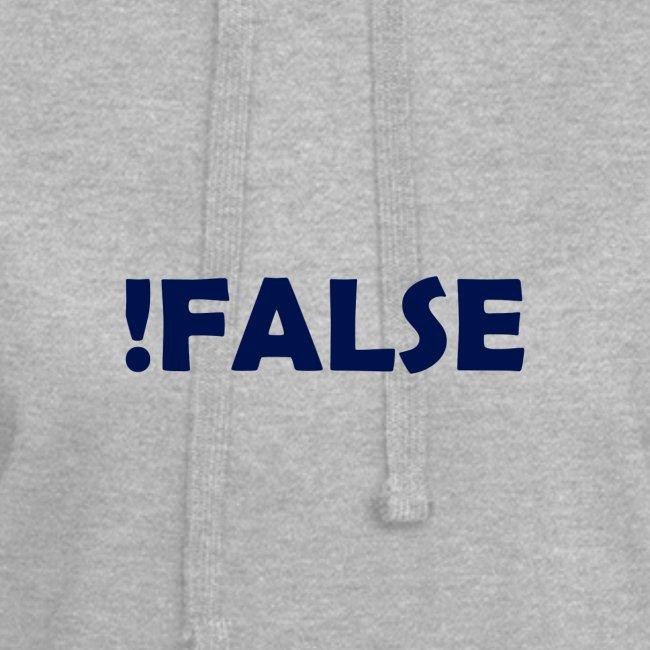 !False