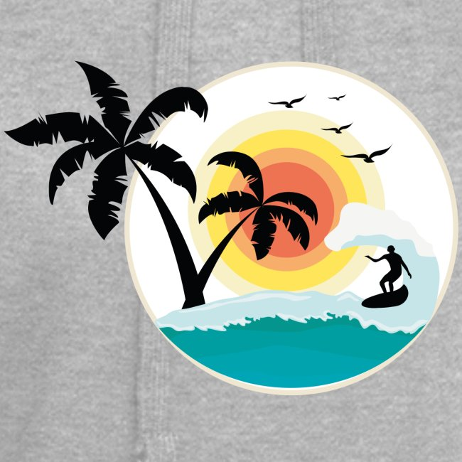 Surfing in paradise