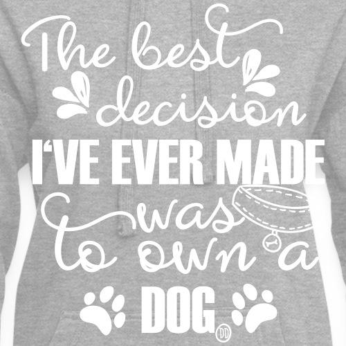 Beste Entscheidung Hund - Hoodie-Kleid