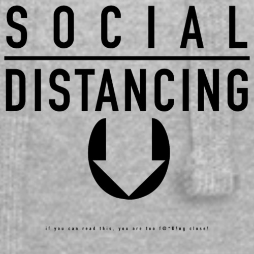 Social Distancing. If you can read this... - Hoodie Dress