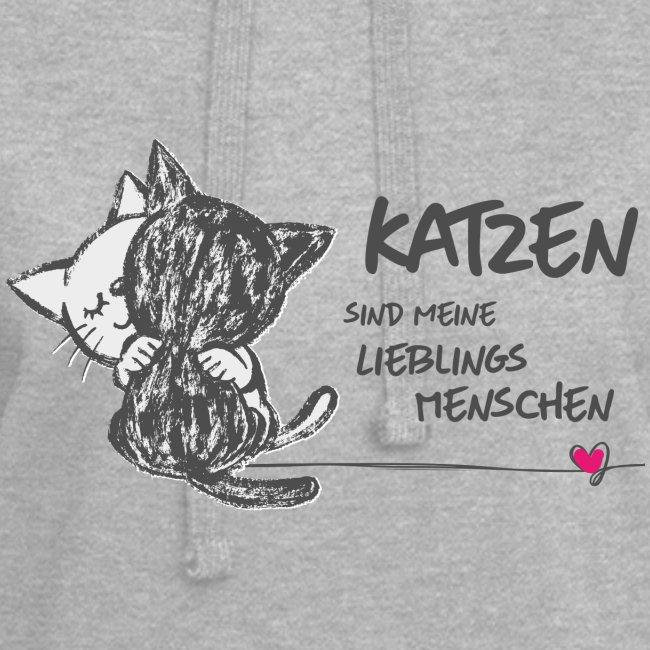 Vorschau: Katzen Lieblingsmenschen - Hoodie-Kleid