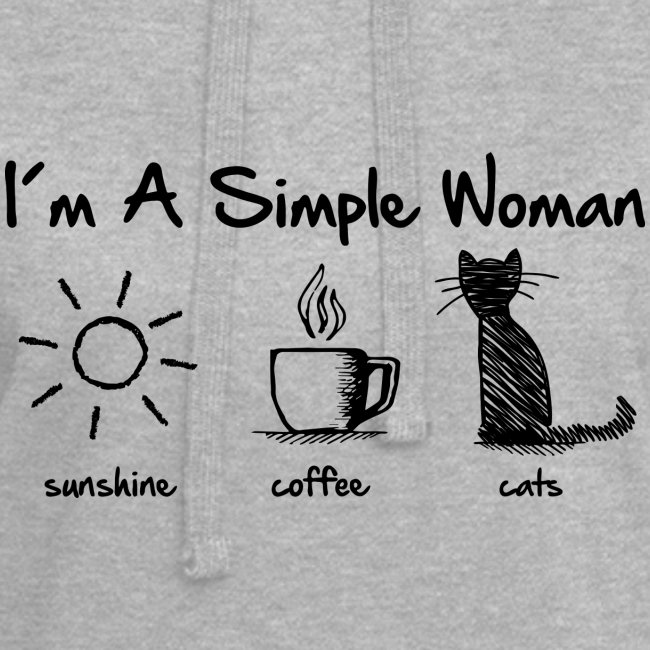 Vorschau: simple woman cats - Hoodie-Kleid