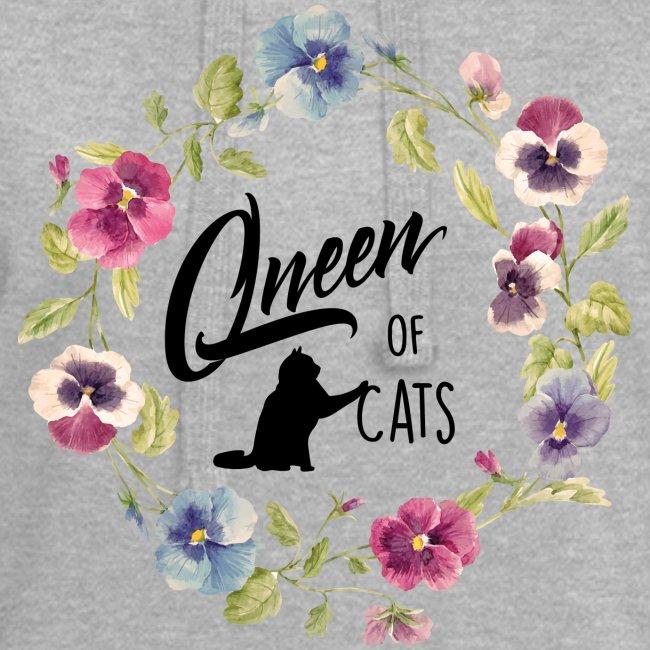 Vorschau: queen of cats - Hoodie-Kleid