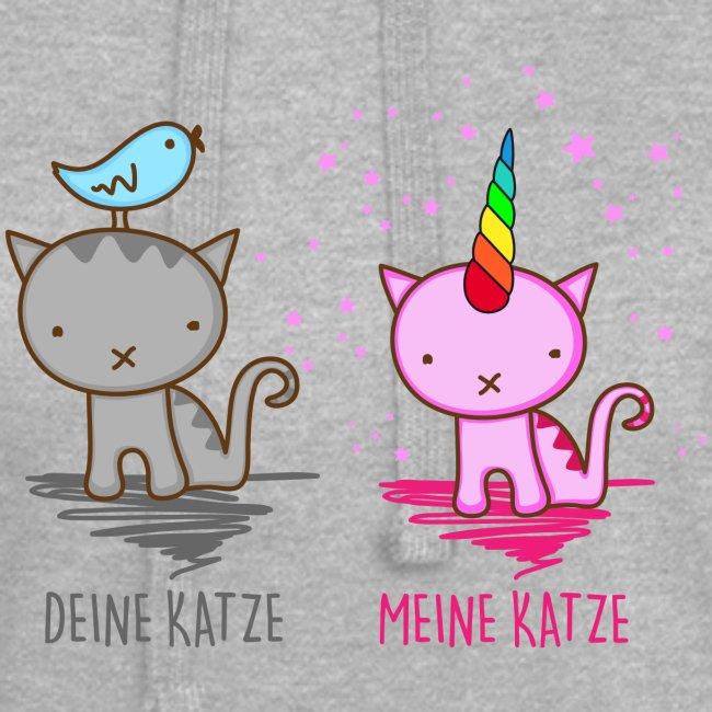 Vorschau: Deine Katze vs. Meine Katze - Hoodie-Kleid