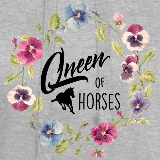 Vorschau: queen of horses - Hoodie-Kleid