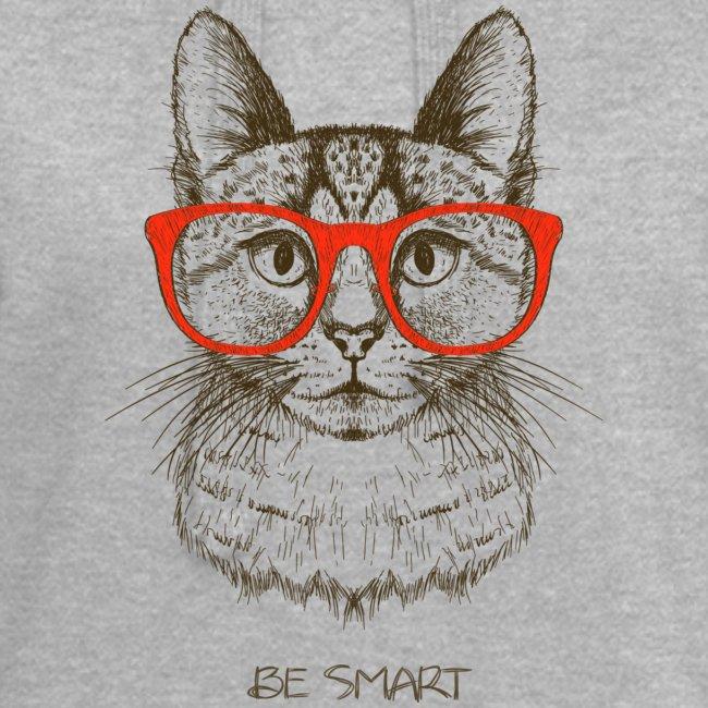 Vorschau: Cat Hipster - Hoodie-Kleid