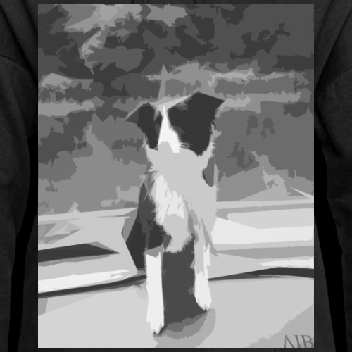 The dog design - Sweat-shirt à capuche long Femme