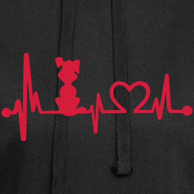 Vorschau: dog heart beat - Hoodie-Kleid