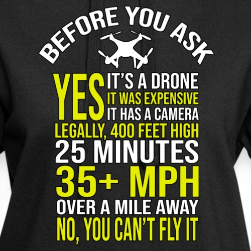 Before you ask ... Typical drone questions answered - Hoodie Dress