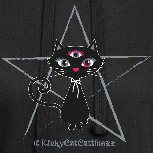 Schwarze Katze - Pentagramm