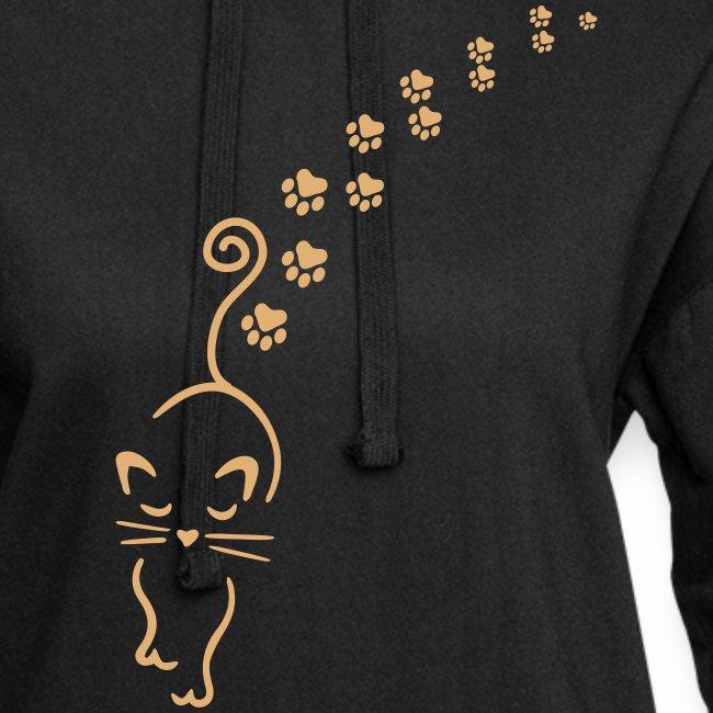 Vorschau: catwalk cat - Hoodie-Kleid