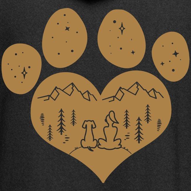 Vorschau: dog girl outdoor pawheart - Hoodie-Kleid