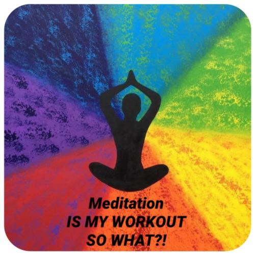 Mediation is my Workout - Hoodie-Kleid