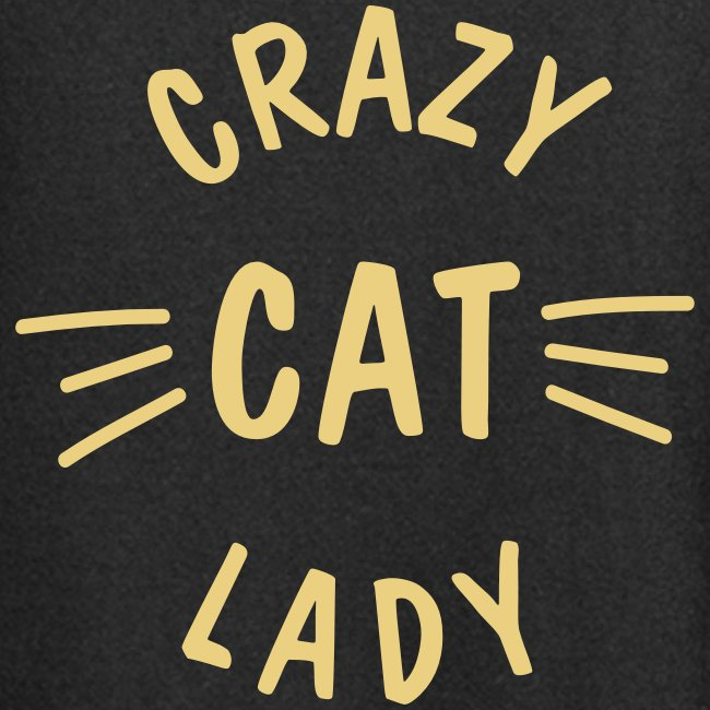 Vorschau: Crazy Cat Lady meow - Hoodie-Kleid