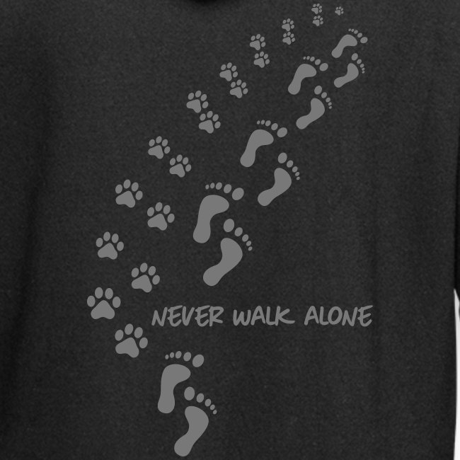 Vorschau: never walk alone dog - Hoodie-Kleid
