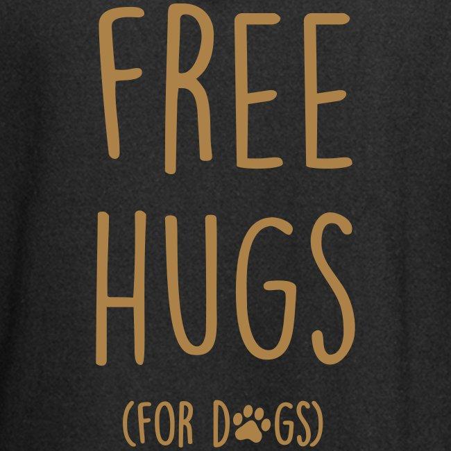 Vorschau: free hugs for dogs - Hoodie-Kleid