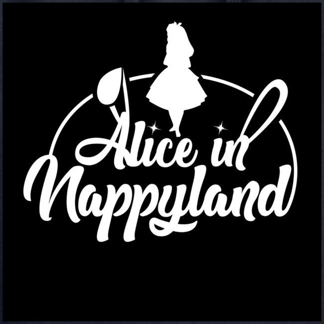 Alice in Nappyland TypographyWhite 1080