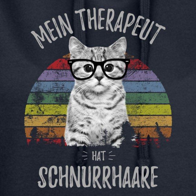 Vorschau: Therapeut Katze - Hoodie-Kleid