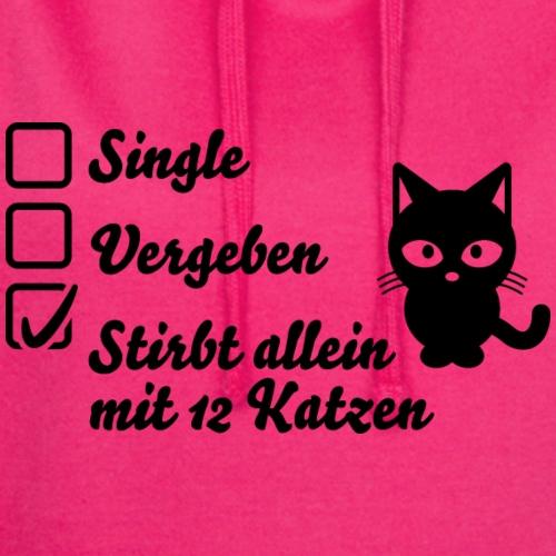 Beziehungsstatus Katze - Hoodie-Kleid