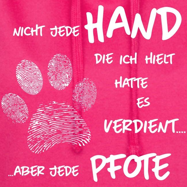 Vorschau: Hand Pfote Hund - Hoodie-Kleid