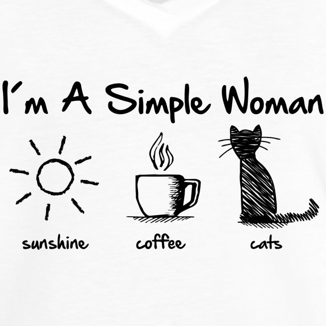 Vorschau: simple woman cats - Frauen Vintage T-Shirt