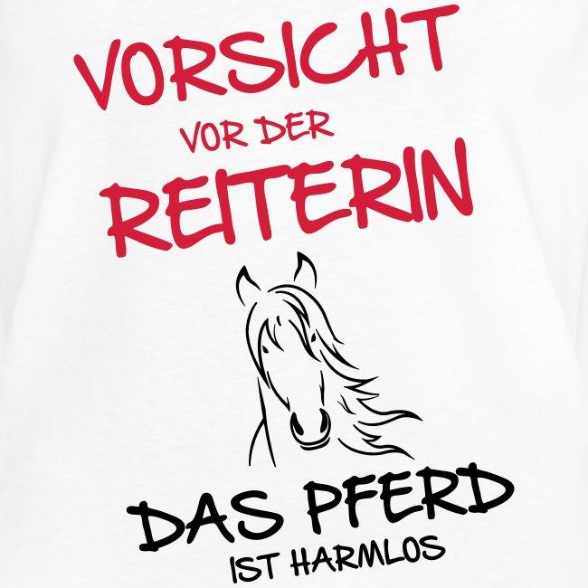 Vorschau: Vorsicht vor der Reiterin - Frauen Vintage T-Shirt