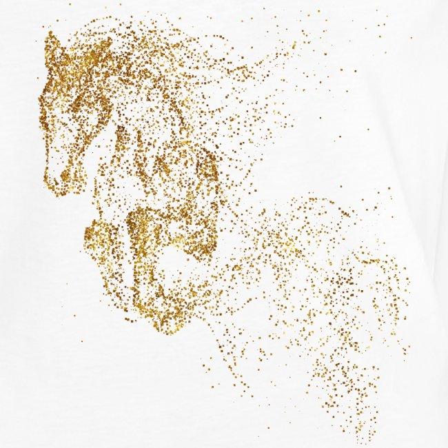 Vorschau: jumping horse gold - Frauen Vintage T-Shirt