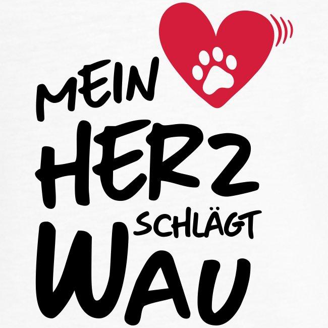 Vorschau: Mein Herz schlägt Wau - Frauen Vintage T-Shirt