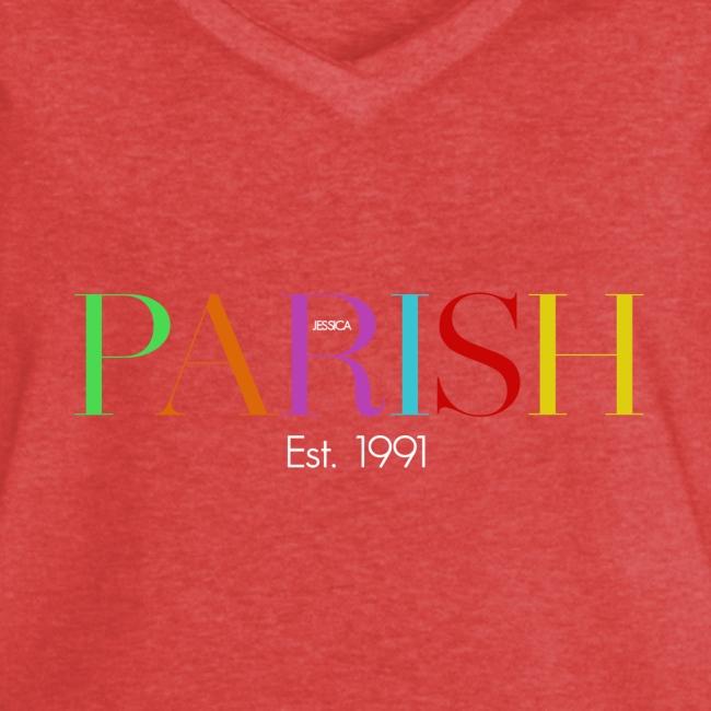 Jessica Parish Color-Schriftzug white
