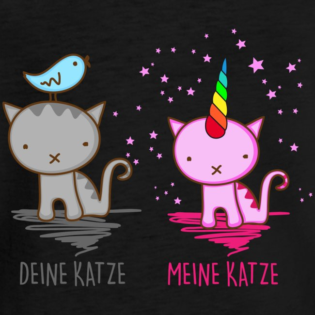 Vorschau: Deine Katze vs. Meine Katze - Frauen Vintage T-Shirt