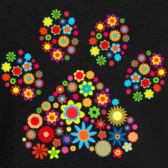 Vorschau: flower dog paw cat - Frauen Vintage T-Shirt