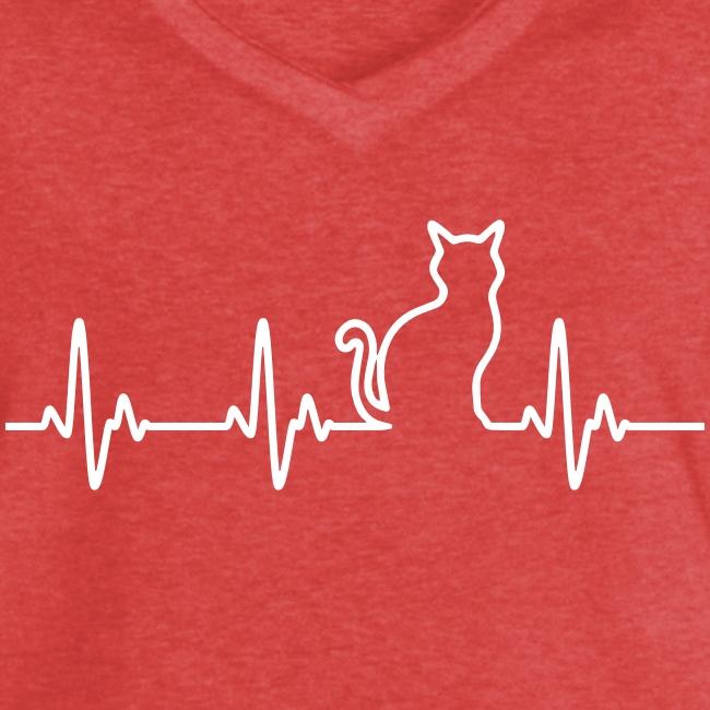 Vorschau: Ein Herz für Katzen - Frauen Vintage T-Shirt