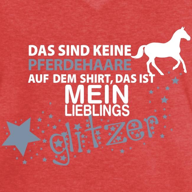 Vorschau: Glitzer Pferd - Frauen Vintage T-Shirt