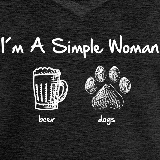 Vorschau: simple woman beer white - Frauen Vintage T-Shirt