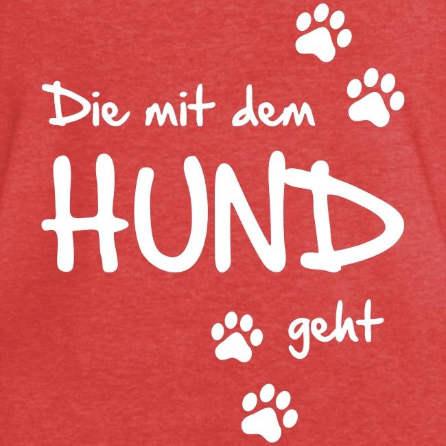 Vorschau: Die mit dem Hund geht - Frauen Vintage T-Shirt
