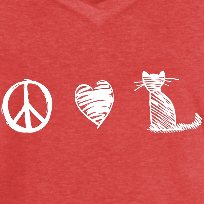 peace love cats - Frauen Vintage T-Shirt