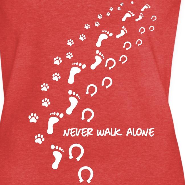 Vorschau: never walk alone hund pferd - Frauen Vintage T-Shirt