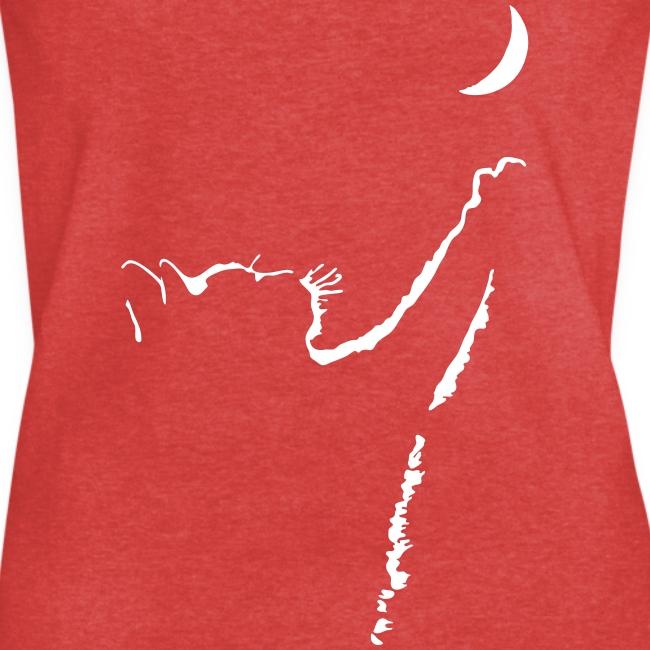 Vorschau: cat moon - Frauen Vintage T-Shirt