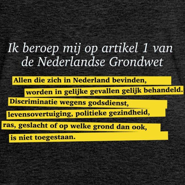 Nederlandse Grondwet T-Shirt - Artikel 1