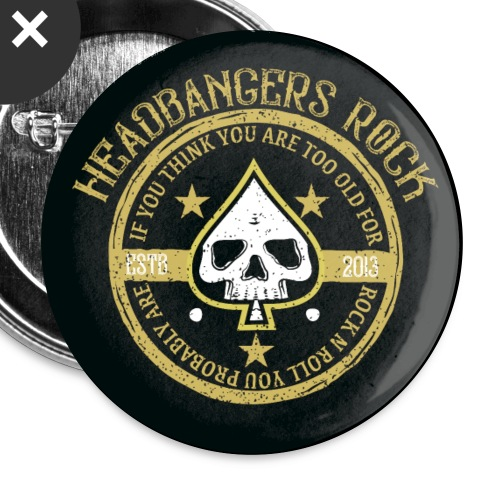 headbangersrock2019badgen - Buttons/Badges stor, 56 mm (5-pack)