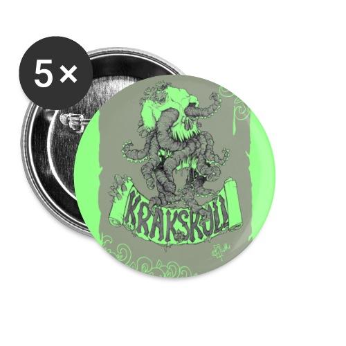 Krakskull_Grün - Buttons groß 56 mm (5er Pack)