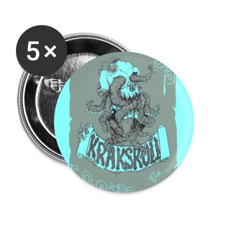 Krakskull Türkis - Buttons groß 56 mm (5er Pack)