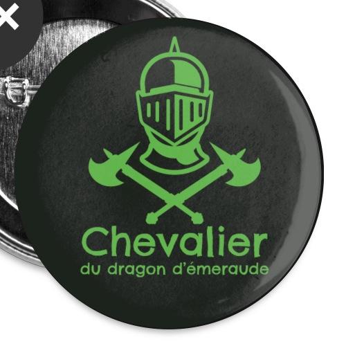 Badge Chevalier du dragon d'émeraude - Lot de 5 grands badges (56 mm)