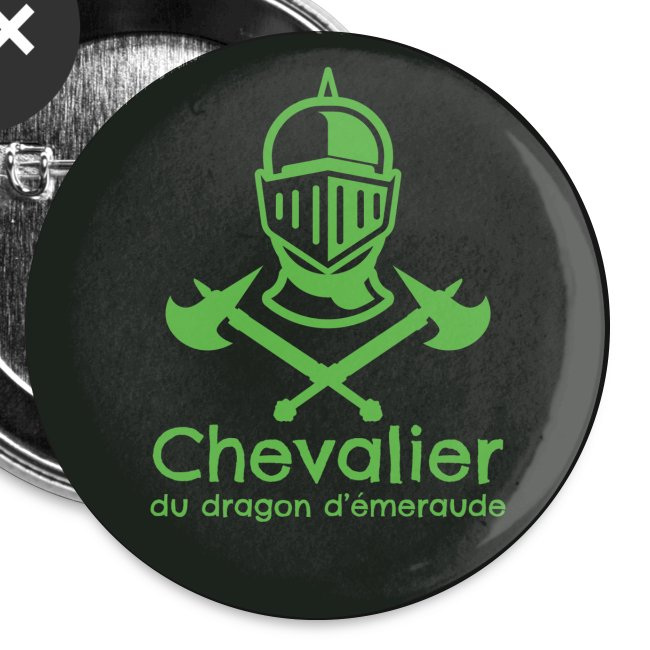 Badge Chevalier du dragon d'émeraude