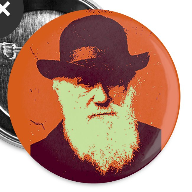 darwin warhol button