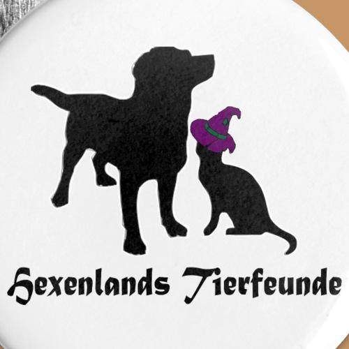 Logo und spruch Hexenland - Buttons groß 56 mm (5er Pack)