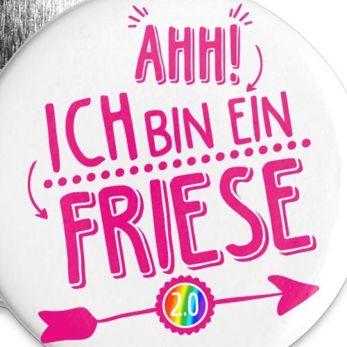 ahh ich bin ein friese 20 pink button - Buttons groß 56 mm (5er Pack)